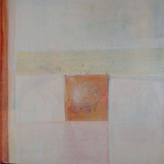 """""""Beyond"""", tempera og blyant på lerret, 60x60cm"""