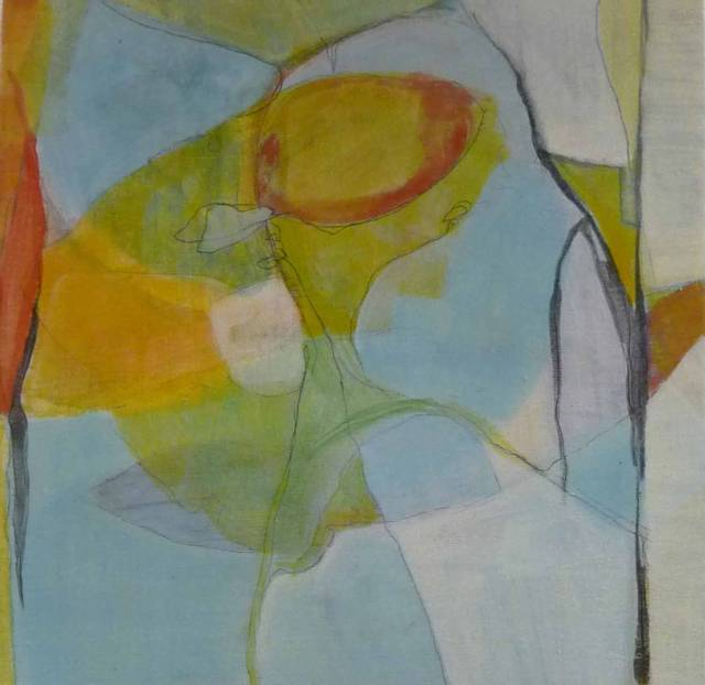 Tempera og blyant på lerret, 50x50cm