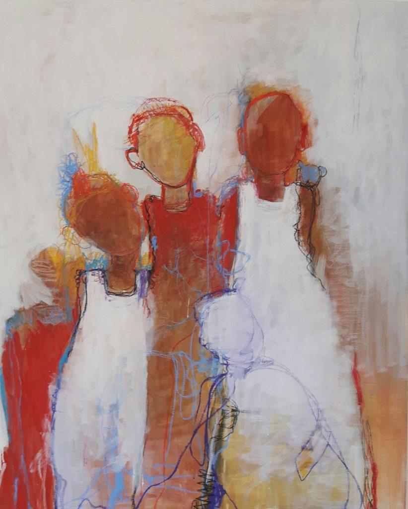 Tempera og pastell, 80x100cm